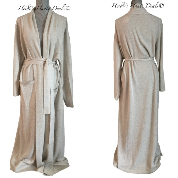 1f4b4c174041 Arlotta Other - Chris Arlotta Gray Pure Cashmere Long Robe M L